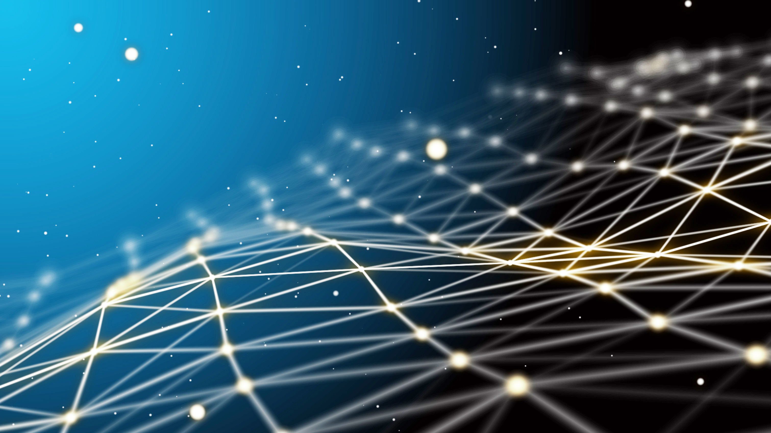 Blue futuristic technology background. Beautiful wavy network co